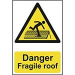 Warning Fragile Roof Sign