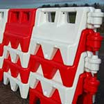 Picture of Water Filled Road And Traffic Barrier - Pallet of 18 Barriers