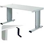 Height adjustable cantilever bench with Retractable Handle Adjustment