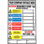 Picture of Weight Load Notices for Shelving, Racking & Mezzanines