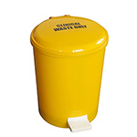 Yellow Pedal Bins - 12 or 20 litre