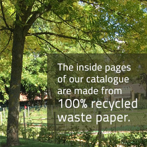 The inside pages of our catalogue are made from 100% recycled waste paper