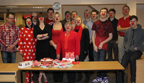 ESE Direct Team in Red Noses