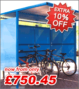 Extra 10% off cycle shelters