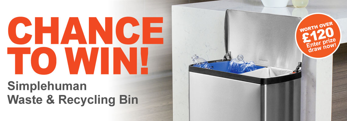Get a chance of winning a Simplehuman stainless steel bin when you spend over £199+VAT at ESE Direct with offer code SIMPLE