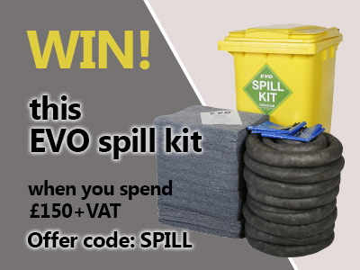 Win an EVO Spill Kit when you spend £150 at ESE Direct with code SPILL