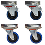 2 x swivel braked castors and 2 x swivel - CPACK2
