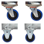 2 x swivel castors and 2 x fixed - CPACK3