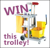 Win a Janitor Trolley when you spend £150+VAT