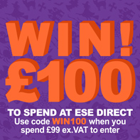 Enter draw to win £100 when you spend £99 ex.VAT with code WIN100