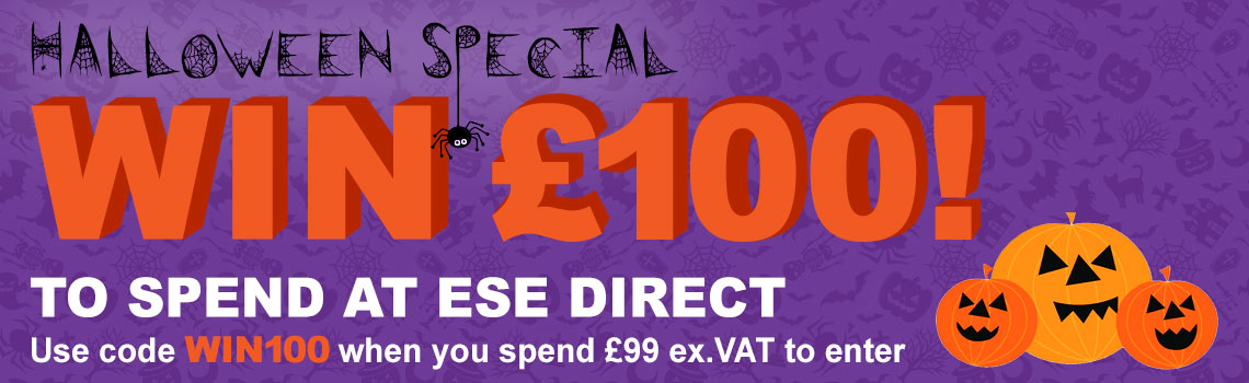 A chance to WIN £100 when you spend £99 ex.VAT at ESE Direct with code WIN100