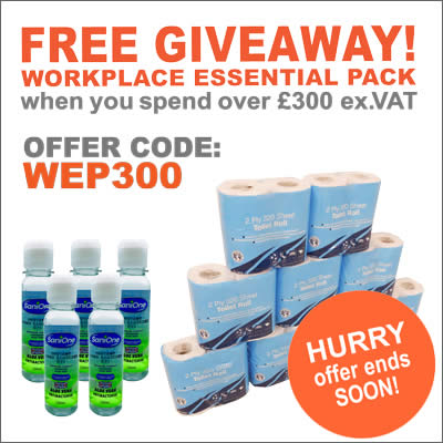 Get a free loo rolls and hand sanitiser when you spend £300+VAT at ESE Direct with offer code WEP300