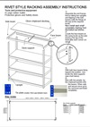 Heavy-Duty Rivet Shelving Instructions