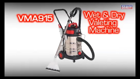 View the Sealey Stainless Steel Wet & Dry Valet Machine 30L video