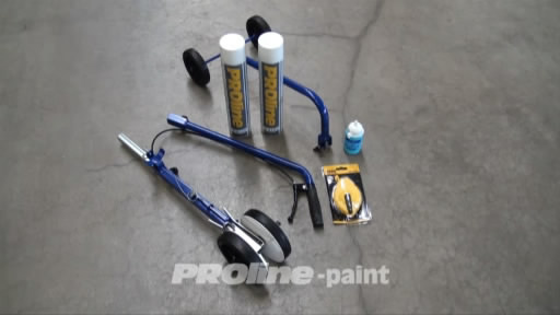 View the PROline 4 Wheel Line Marking Paint Applicator video