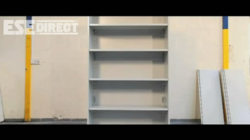 View the Duo Shelving Clad Back Starter Bays 6 Shelves video