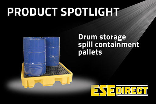 View the Drum Storage Spill Containment Pallets video