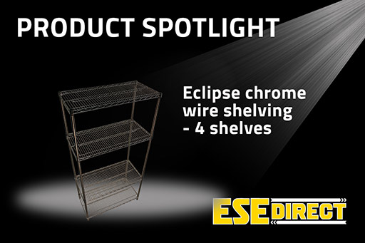 View the Eclipse Chrome Wire Shelving with 4 Shelves video