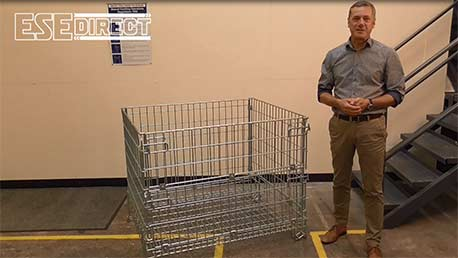 View the Heavy Duty Folding Cage Pallets video