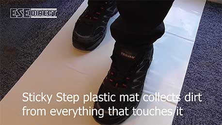 View the Sticky Step Plastic Mat  video